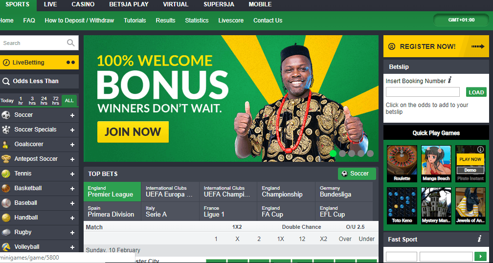 how to play casino in bet9ja